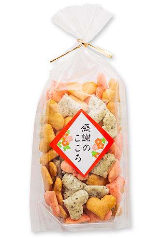 ハートおかきミックス巾着袋(60g)