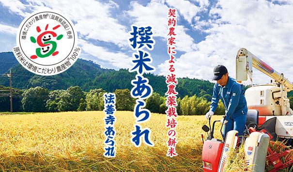 【撰米あられ】契約農家による減農薬栽培の餅米